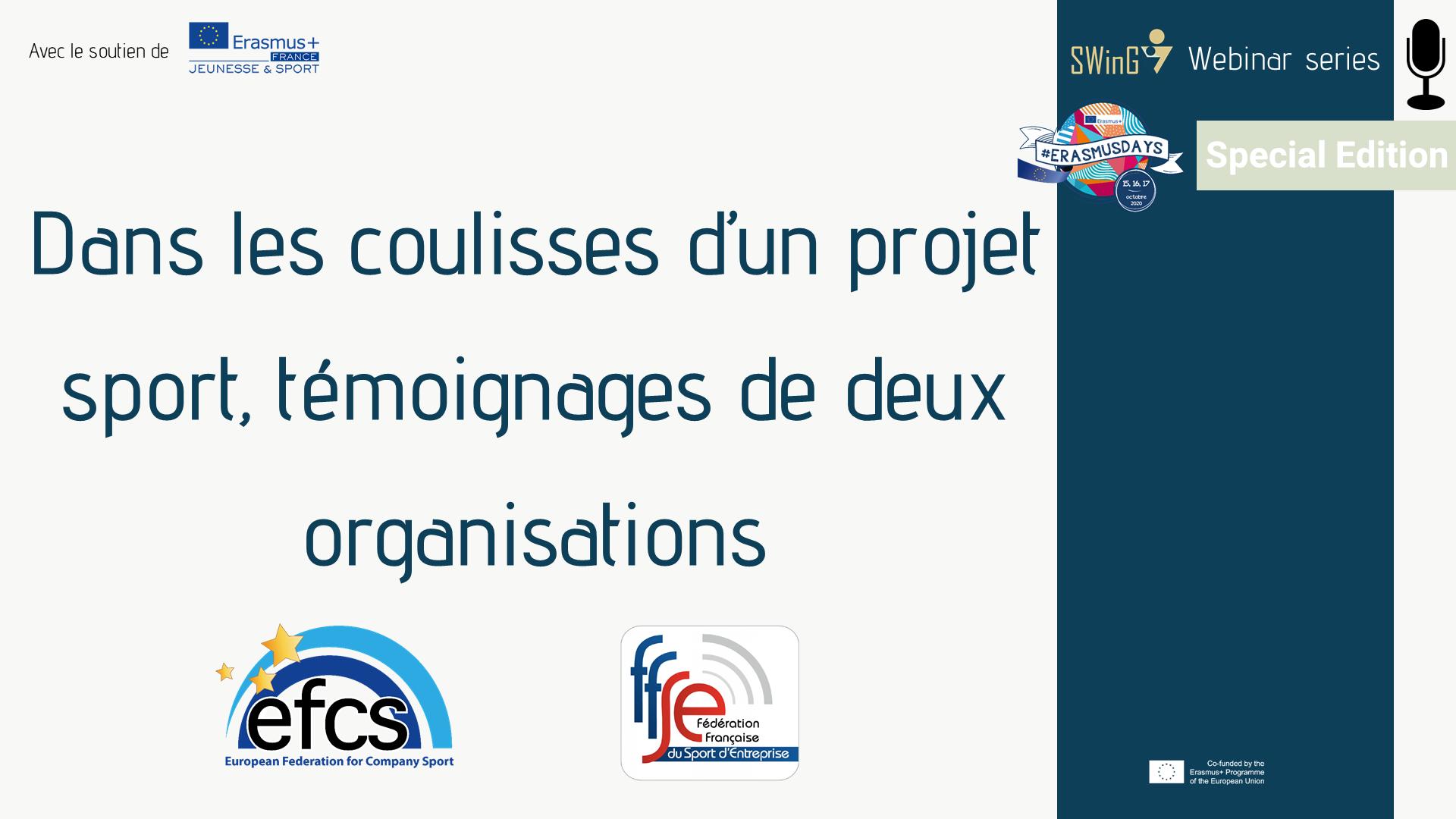 ErasmusDays coulisses projets sport